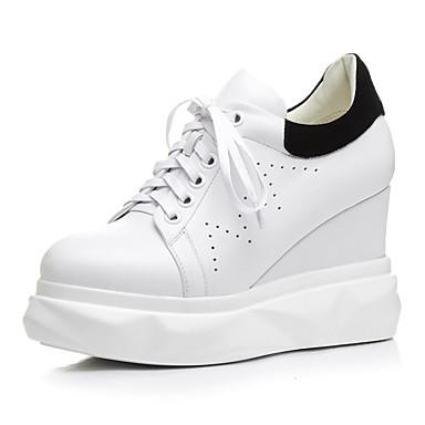 Creepers Noir été Cuir Printemps Nappa Confort 06817247 Chaussures Femme Blanc Basket 10RqTT