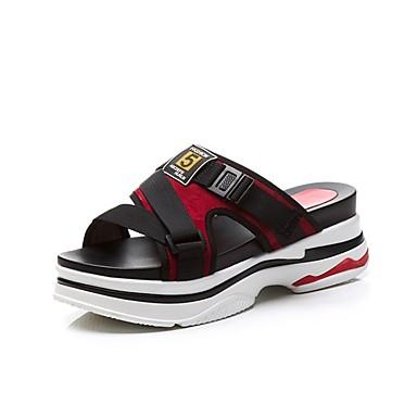 7d110440d1d5 ... Creepers Noir Chaussures Rouge 06831846 Eté Confort Cuir Femme Sandales  xwdXgqYq0 ...