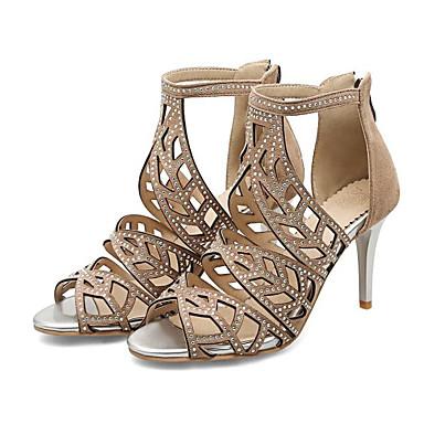 les chaussures de confort d'été / de de de base synthétiques pompe sandales de talon aiguille noir / almond / vert foncé 651727