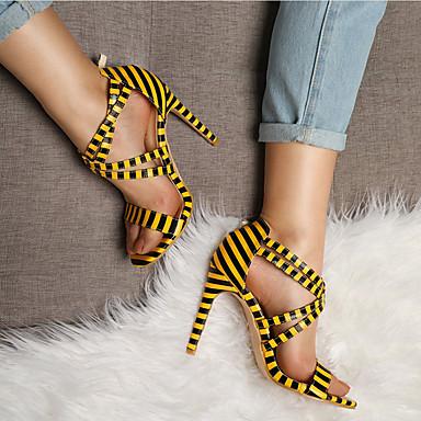 Žene Cipele PU Jesen zima Obične salonke Sandale Stiletto potpetica Otvoreno toe Obala / Bijela