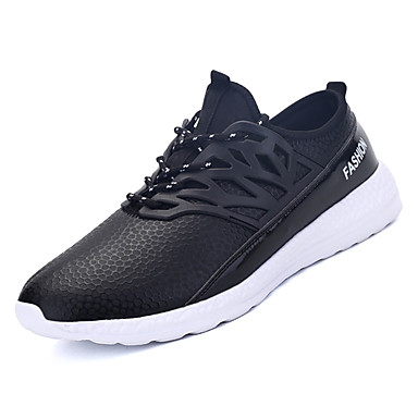 Muškarci PU Jesen Udobne cipele Atletičarke tenisice Hodanje Crn / Dark Blue / Navy Plava