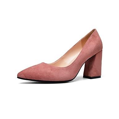 Chaussures Heel Chaussures Talons Confort à Block Femme Noir Rose Daim claire Brun été 06832979 Printemps BAXCqnXgwx