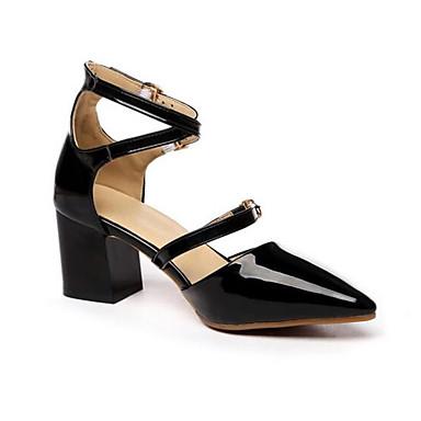 Negro Tacón Primavera Zapatos Cuadrado Mujer 06833061 Confort Beige Rosa PU Tacones xgpO0n