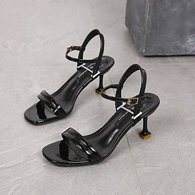 Zapatos D'Orsay Piezas PU Tacón Rojo Mujer Stiletto Dos Beige Sandalias y Negro 06832840 Verano adBWwq