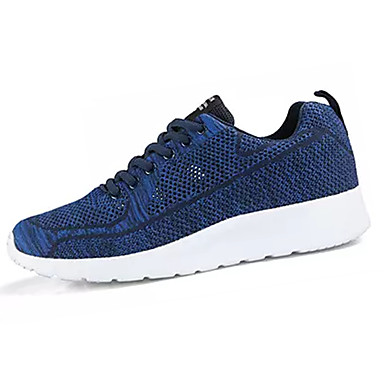Men's Fall Mesh / Elastic Fabric Fall Men's Comfort Athletic Shoes Running Shoes Color Block Black / Red / Blue 32aa75