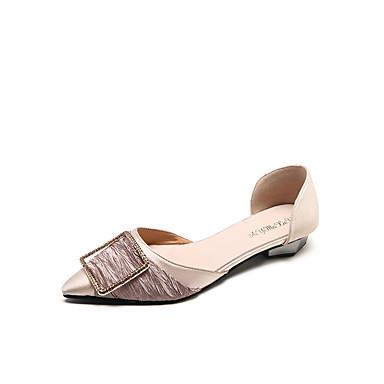 Mujer Tacón D'Orsay Satén y Zapatos Beige 06828407 Negro Plano Verano Piezas Bailarinas Dedo Puntiagudo Dos arFawqx48
