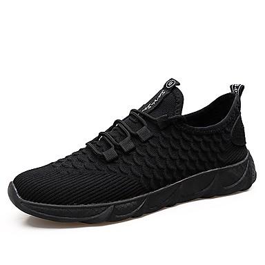 Men's Shoes Mesh Fall Comfort Athletic Shoes Men's Walking Shoes White / Black / Black / White 0cad45