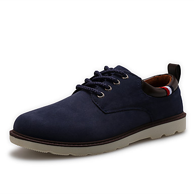 Muškarci Brušena koža / PU Ljeto Udobne cipele Oksfordice Braon / Plava / Žutomrk