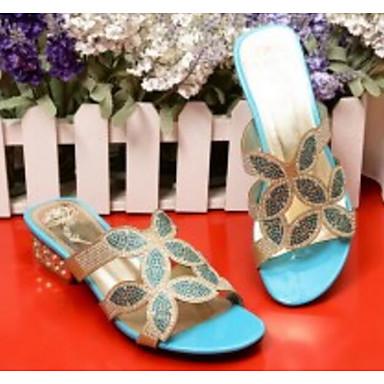 Bas Or Bleu Sandales Talon synthétique Eté Vert Chaussures 06791459 Confort Matière Femme qUwTH0x