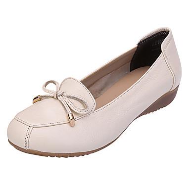 Mujer Bailarina Tacón Napa Beige Cuero Punta 06797003 Gris Bailarinas cerrada Verano Zapatos Verde de Pajarita Confort Cuña rnCq8r1w