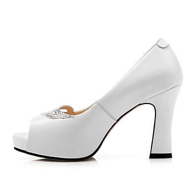 Nappa Noir Bottier à Confort Printemps 06797642 Rose Basique Cuir Chaussures Chaussures Talons Escarpin Talon Blanc Femme EOwPqq