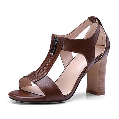 Femme ouvert Sandales 06777996 Polyuréthane Chameau Confort Vin Chaussures Bottier Bout Talon Eté Noir rIF8rS