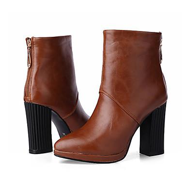 Botillons Bottier 06791680 Jaune Automne pointu Demi la Bottine Noir Bottes Chaussures Mode Bottes hiver Polyuréthane Femme Talon à Rouge Botte Bout xf8SwW4Fnq