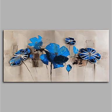 Hang oslikana uljanim bojama Ručno oslikana - Sažetak / Cvjetni / Botanički Moderna Bez unutrašnje Frame / Valjani platno