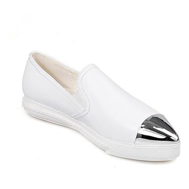 Confort Automne 06785213 Blanc et Chaussons D6148 Mocassins Chaussures Cuir Talon Femme Nappa Plat qaIxA