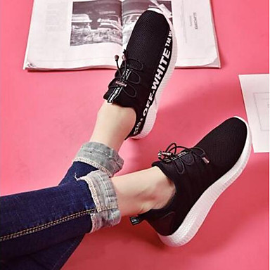 06791987 Confort verano Mujer Primavera PU Zapatillas Blanco de Negro Rojo Zapatos Atletismo Plano Tacón nHqOnp