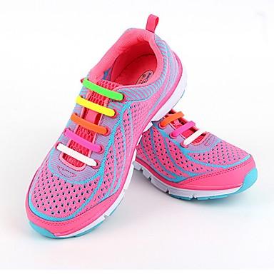 povoljno Vezice za cipele-1 komad Guma Vezice Uniseks Proljeće Kauzalni / Vježbanje Crvena / Zelen / Plava