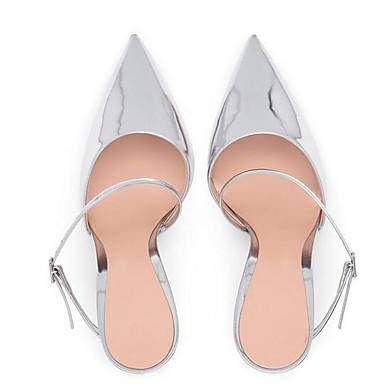 Polyuréthane Sandales Talon Bleu Femme 06832662 Chaussures Confort Argent Aiguille Eté gIqc5w1