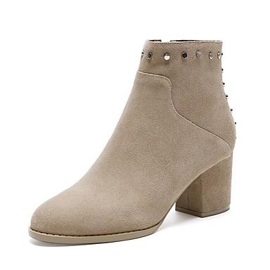 Hiver la à Chaussures Femme Noir Bottier Chair Bottes Mode Talon Bottes 06780571 Confort Cuir Marron URfYUSxEqw