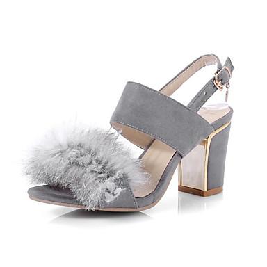 Basique Rose Escarpin Bottier Noir Confort Talon 06827683 Gris Eté Chaussures Sandales Daim Femme f1qRXI