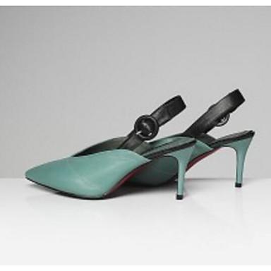 Talon Eté Noir Chaussures Vert clair Confort 06776549 Femme Sandales Nappa Cuir Aiguille UqY6WwZO