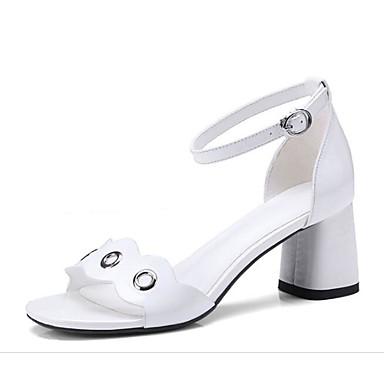 Nappa Noir Blanc Confort Chaussures Bottier Femme Sandales Cuir Talon Eté 06782203 qEBxgH