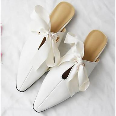 amp; Eté Plat Blanc Talon Chaussures Sabot Cuir Nappa Confort 06832269 Noir Mules Printemps Bout fermé Femme Hp0Swq