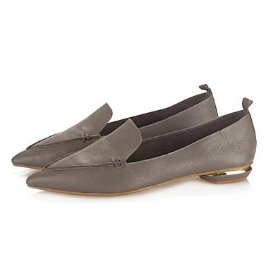 amp; Bas D6148 Printemps Cuir Confort Chaussons Nappa et Gris Rose Chaussures Automne 06840079 Mocassins Femme Talon xqCI1p