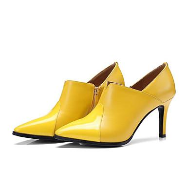 Confort Talons Basique Talon Nappa Jaune Automne Printemps Escarpin Noir Cuir Aiguille Femme à 06785376 Chaussures Chaussures 4wqX11
