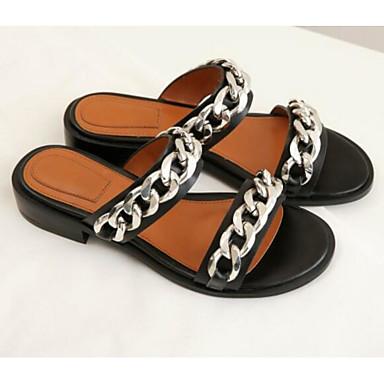 amp; Chaussons Chaussures Bas Tongs Confort Noir Femme Cuir 06795594 Talon Eté Nappa RxYffOqX