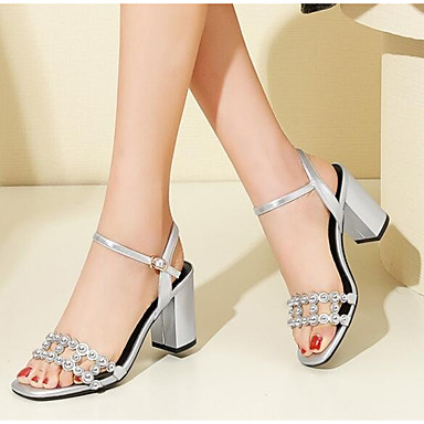 Sandales Bottier Eté Cuir Talon Noir 06797439 Argent Femme Chaussures Confort Nappa wS07XqH