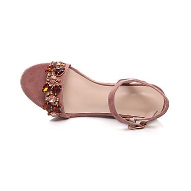 Hauteur Femme semelle Sandales Chaussures Rose de Eté compensée Confort Daim 06831360 XpHqOrpWwg