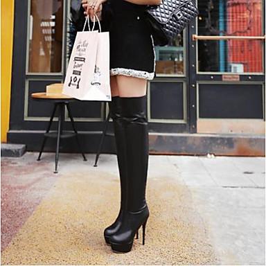 Polyuréthane Chaussures Talons Hiver Aiguille à Chaussures Blanc Noir 06795205 Femme Talon Confort 5wIqUgIxF