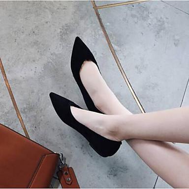 Femme 06797302 Eté Cuir Plat Nappa Bout Ballerines Noir fermé Chaussures Talon Confort ggqZnpr