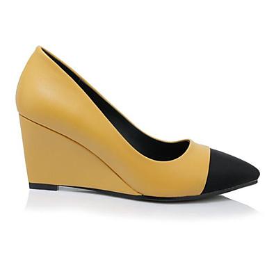 compensée Polyuréthane Printemps synthétique Jaune de Confort Femme Noir 06783428 Chaussures Matière à Talons semelle Chaussures Hauteur xaIqF7