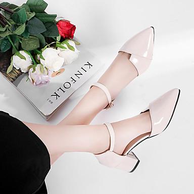 Verano Cuadrado Beige Mujer 06796511 Zapatos Tacones Rosa Tacón Básico Pump Puntiagudo PU Dedo RqAv0qE