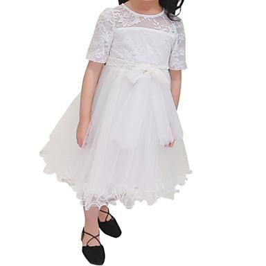 Dijete koje je tek prohodalo Djevojčice Jednobojni Kratkih rukava Haljina