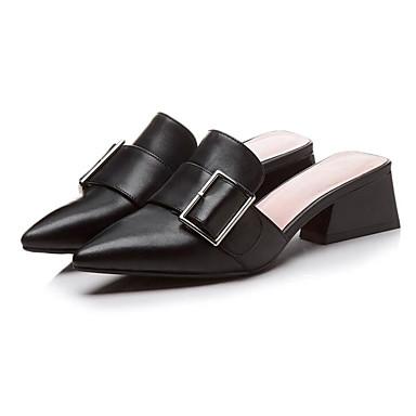 Nappa Femme Sabot Bottier Confort Cuir amp; Noir Printemps Beige 06835489 Mules Chaussures Talon fwHqxwErU