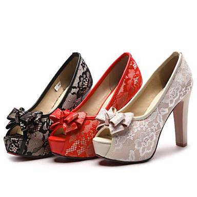 de Chaussures Noir Soirée Evénement Talon 06839946 Polyuréthane Chaussures Rouge Bottier Femme mariage Mariage amp; Basique Escarpin Printemps Beige Noeud Bout ouvert été z1q0zyc4p