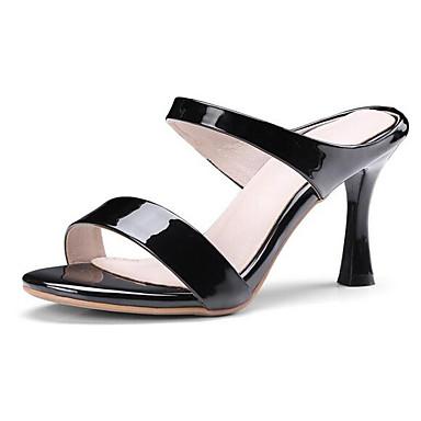 Eté Confort Chaussures Rouge Cuir Aiguille Talon 06778499 Femme Nappa Noir Blanc Sandales IxtTqTR