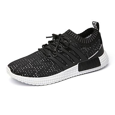 Muškarci Elastična tkanina Ljeto Udobne cipele Atletičarke tenisice Hodanje Color block Sive boje / Plava / Crno-bijeli