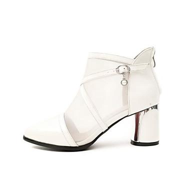 Noir 06831834 Talon Gris clair Nappa Chaussures Blanc Cuir Printemps à Confort Bottier Bottes la Mode Bottes Femme wBaqTOOS