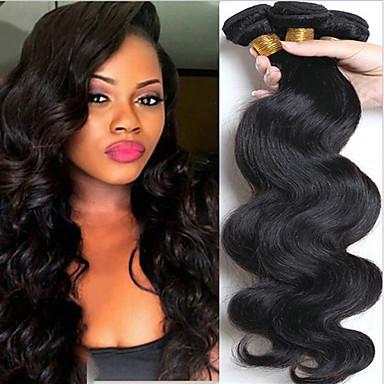 povoljno Jedan paket kose-6 paketića Peruanska kosa Tijelo Wave 8A Ljudska kosa Netretirana  ljudske kose Ljudske kose plete Jedan Pack Solution Ekstenzije od ljudske kose 8-28 inch Prirodna boja Isprepliće ljudske kose