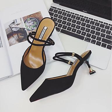 Chaussures Eté Basique Chair Escarpin Talons 06833262 Femme Vert Daim foncé à Noir Chaussures Aiguille Talon 1EwqnxdxI
