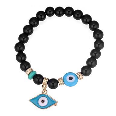 voordelige Armband-Dames Bordeaux Klassiek Kralenarmband Ogen Dames Vintage Etnisch Modieus Armbanden Sieraden Zwart / Rood / Blauw Voor Uitgaan Verjaardag