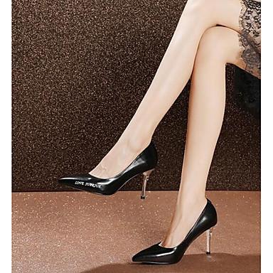Chaussures Confort à Nappa 06840742 Aiguille Talons Basique Automne Talon Femme Chaussures Escarpin Noir Cuir Blanc Rwg8nd