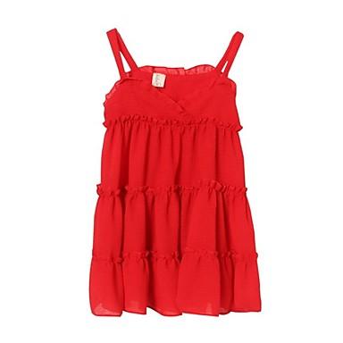 Dijete koje je tek prohodalo Djevojčice Osnovni / slatko Jednobojni Bez rukávů Haljina Red 100