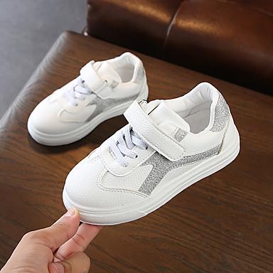 Djevojčice Cipele PU Proljeće ljeto Udobne cipele Sneakers Hodanje Mat selotejp za Tinejdžer Pink / Pink