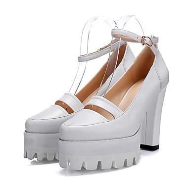 Blanc Nappa été Printemps Talon Bottier Chaussures Cuir Confort Noir à Talons Chaussures 06840844 Femme qwnP6g