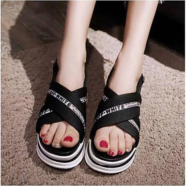 Satin Confort Noir Creepers Femme Chaussures 06792560 ouvert Bout Eté Sandales ZqOU15x
